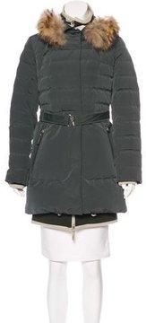 Allegri Fox Fur-Trimmed Puffer Coat