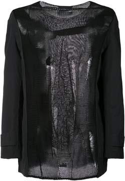 Yang Li distressed knitted top