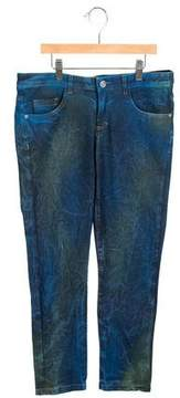 Versace Girls' Tie-Dye Straight-Leg Jeans w/ Tags