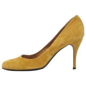 Rochas Yellow Suede Heels