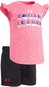 Under Armour Baby Girl Squad Leader Graphic Tee & Shorts Set
