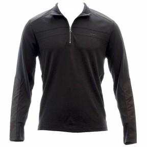 Calvin Klein Men's Black Interlock 1/4 Zip Long Sleeve Sweatshirt Sz: M