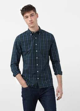 Mango Outlet Slim-fit madras check shirt