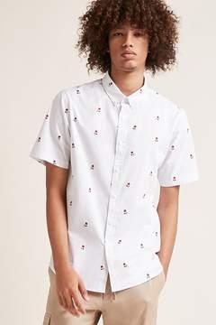 21men 21 MEN Slim-Fit Rose Print Shirt