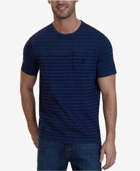 Nautica Men's Striped Crew-Neck Garment Dye T-Shirt, A Macy's Exclusive
