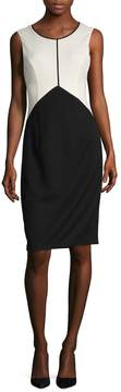 Ava & Aiden Women's Colorblock Crewneck Dress