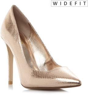 Dune London W AIYANA - ROSE GOLD Wide Fit Pointed Toe High Heel Pump