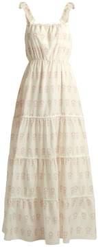 Athena PROCOPIOU Summer Morning tiered cotton and silk-blend dress