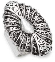 Lois Hill Oval Cutout Sterling Silver Ring