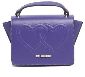 Love Moschino Embossed Hearts PU Leather Satchel Bag