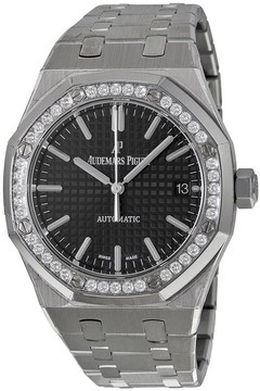 Audemars Piguet Royal Oak Black Dial Stainless Steel Unisex Watch