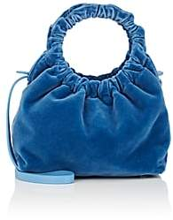 The Row Women's Double-Circle Velvet Small Bag - Blue