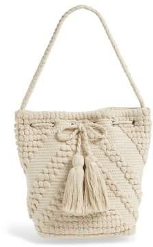 Sole Society Fabric Bucket Bag