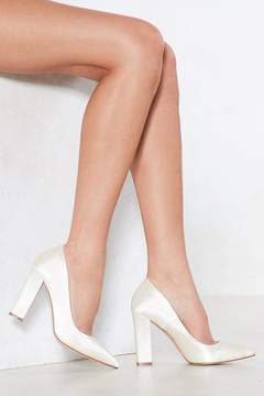 Nasty Gal Satin the Bar Court Heel