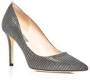 Sarah Jessica Parker Fawn Metallic Stripe Pointed Toe Pumps