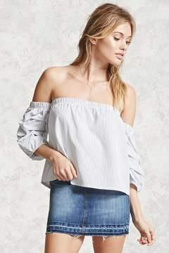 Forever 21 Contemporary Frayed Denim Skirt
