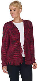 C. Wonder Boucle Knit Open Front Cardigan with
