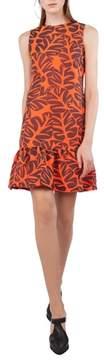 Akris Punto Tropical Leaf Jacquard Shift Dress