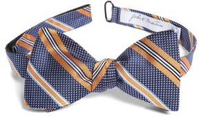John W. Nordstrom Men's Dotted Stripe Silk Bow Tie