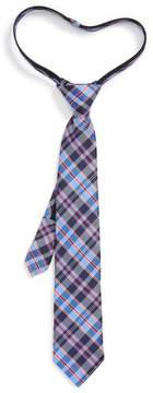 Nordstrom Boy's Plaid Silk Zip Tie