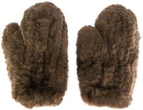 Yves Salomon mitten gloves