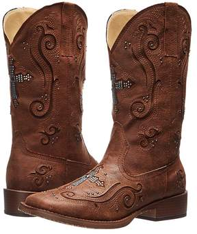 Roper Crystal Cross Square Toe Boot Cowboy Boots