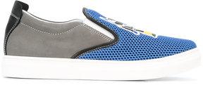 Fendi Kids mesh slip-on sneakers