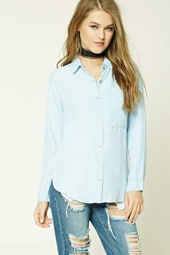 Forever 21 Chambray High-Low Shirt