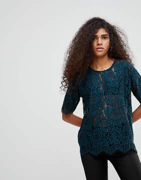 B.young Lace Short Sleeve Top