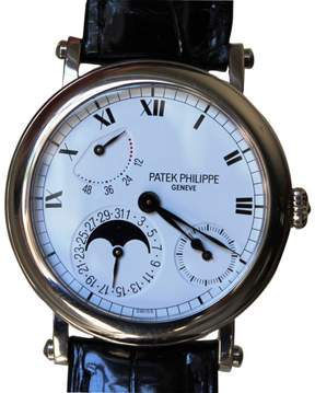 Patek Philippe 5054 18K White Gold Power Reserve Moonphase 36mm Mens Watch