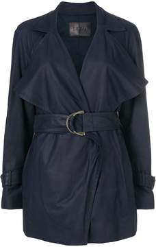 Drome belted short trench coat