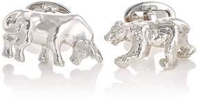 Jan Leslie Men's Bull & Bear Cufflinks