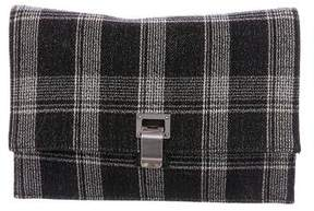 Proenza Schouler Leather-Trimmed Woven Lunch Clutch