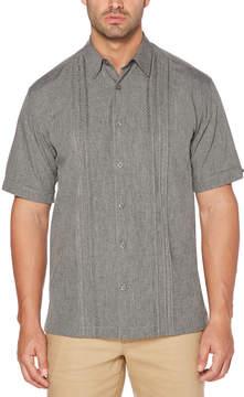 Cubavera Big & Tall Embroidered Panel Chambray Shirt