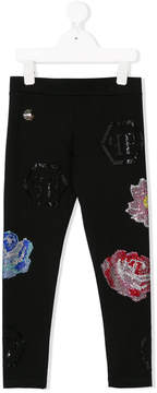 Philipp Plein Junior crystals embellished leggings