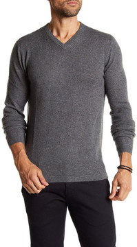 Autumn Cashmere Ribbed Knit Trim Cashmere Sweater
