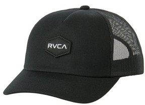 RVCA Men's Commonwealth Trucker Hat - Black