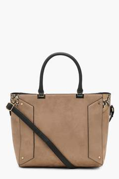 boohoo Mixed Texture Structured Tote