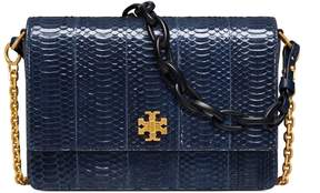 Tory Burch KIRA SNAKE DOUBLE-STRAP SHOULDER BAG - ROYAL NAVY - STYLE