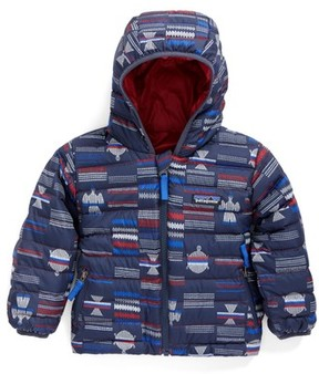 Patagonia Infant Boy's Reversible Down Sweater Hoodie