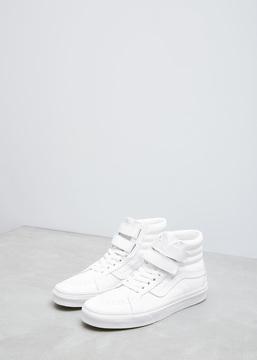 Vans True White Mono Leather Women's UA Sk8-hi Reissue V