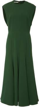 Emilia Wickstead Cropped Crepe Midi Dress