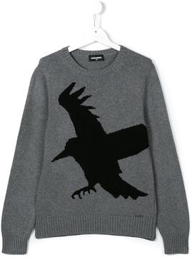 DSQUARED2 bird intarsia jumper