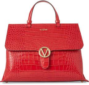 Mario Valentino Valentino By Lipstick Olimpia Croco Leather Satchel