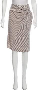 Band Of Outsiders Striped Knee-Length Skirt