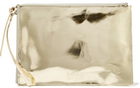 MM6 Maison Margiela Embossed Metallic Faux Leather Pouch