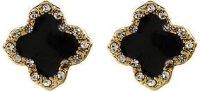 Amrita Singh Austrian Crystal & Black Clover Stud Earrings