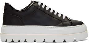Maison Margiela Black and White Flatform Sneakers
