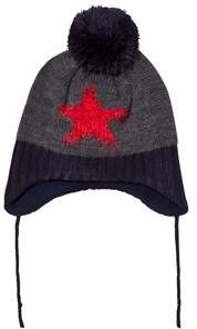 Barts Grey and Black Star Milkyway Beanie