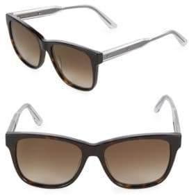 Bottega Veneta Gradient 55MM Rectangle Sunglasses